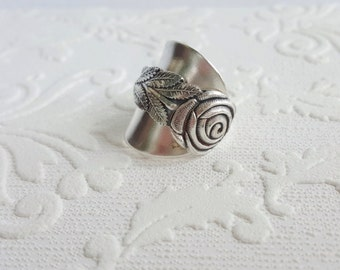 Rose Demitasse Silverware Spoon Ring from Girl Ran Away with the Spoon