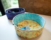 Custom Nesting Bowls and Yarn Bowl for LQ