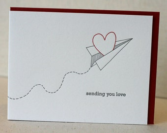 Letterpress Sending You Love Card