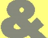 Futura Font Cross Stitch - Ampersand Large