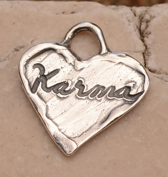 karma charm in sterling silver 365d