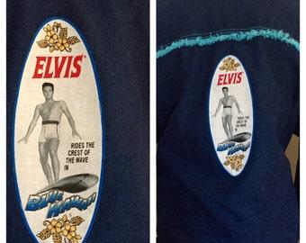 Altered Couture Denim Jean Jacket, Plus Size, Elvis Appliquéd, Refashioned