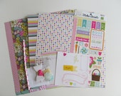 Do-It-Yourself-12x12 Scrapbook Kit #16, Scrapbook Page, Scrapbook Mini Album, Pre-Made Pages, Pre-Made Albums