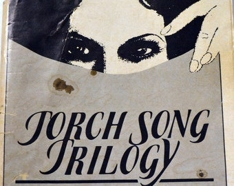 Vintage Torch Song Trilogy Playbill Harvey Fierstein Estelle Getty Broadway Show 1980's Fashion and Advertising