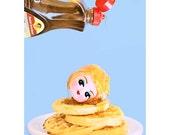 pancakes print 5 x 7 EAT It DOLL UP
