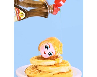 pancakes print 5 x 7 EAT It DOLL UP