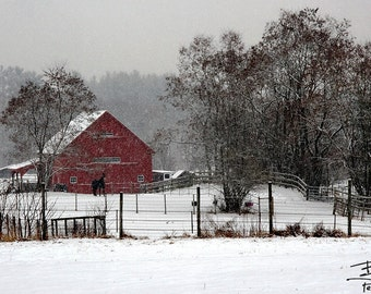 Little Red Barn - Lee, New Hampshire