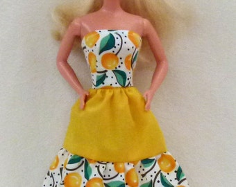 "Fashion doll handmade clothes dress fits 11.5"" dolls"