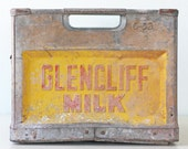 Vintage Dairy Crate. Glencliff Milk, Protected by Pinkerton's Detective Agency