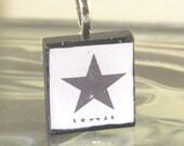 David Bowie BLACKSTAR Scrabble Tile Pendant