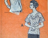 Vintage 1970's Mail Order Sewing Pattern 9138 Misses' Blouses Bust 38 inches UNCUT