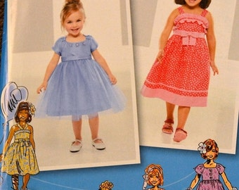 ON SALE Sewing Pattern Simplicity 1814  Flower Girl's  Dress Size 4-5-6-7-8 Uncut Complete