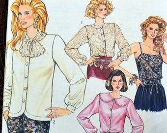Vintage Sewing Pattern Simplicity 7020 Misses' Blouse and Camisole Size 6-14 Bust 29-36 inches UNCUT  Complete Easy to Sew