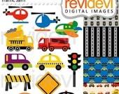 EtsyCIJ 2016 SALE Transportation clip art / digital images / City Traffic Jam Clip arts 07512