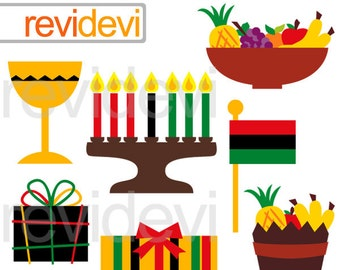Kwanzaa digital clipart / kwanzaa time clip art digital images / commercial use graphic / instant download / kwanzaa