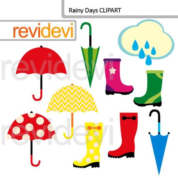 Rainy Day Clip Art: Items Similar To Rainy Days Clipart