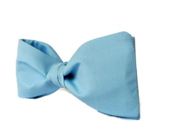 Blue Hair Bow , Pastel Blue Womens Bowtie , Woman Gift , Womens Cotton Bow , Bow Tie for Women , Hair Accessories , Hair Clip/Barrette/ Comb