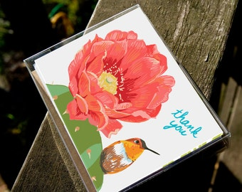 Thank You Birds  - Box of 8 Assorted Cards, 4 designs