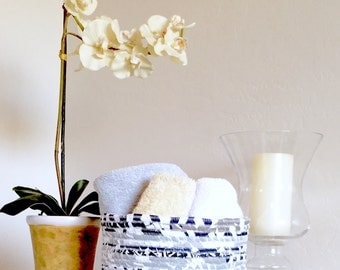 Boho Coiled Fabric Basket