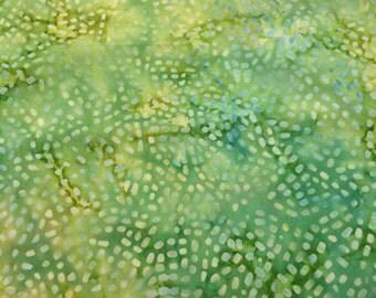 Batik fabric - 19 x 32 green