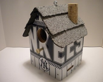 New York Yankees License Plate Birdhouse