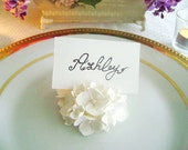 Wedding White Hydrangea Place Card Holder Wedding Favor Flower Place Card Escort Card Wedding Decor Set of 24 Made to Order