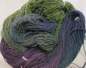 Handpainted Organic Cotton Lace Yarn - WILLOW - 430 yds