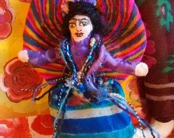 Tiny Frida Kahlo Doll Pin