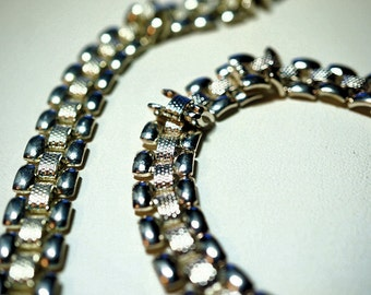 Vintage Monet Necklace and Bracelet Set, Vintage 60s Ladies Jewelry
