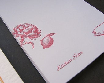 Additional notes & dividers for Letterpress DIY Cookbook Kit