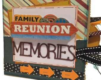 Family Reunion Scrapbook - Paper Bag Album - Family Memory Book - Ready to Ship