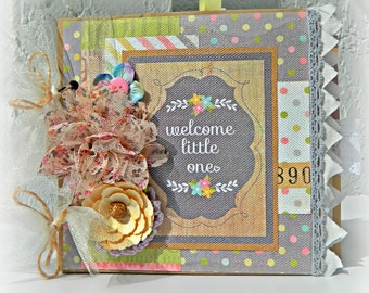 Welcome Little One 6 x 6 Baby Paper Bag Scrapbook Album