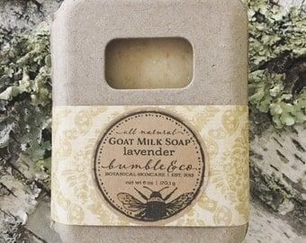Lavender Goat Milk Soap | Bar Soap | All Natural Soap | Lavender Soap | Handmade Soap | Oatmeal Soap | Artisan Soap |  Gentle Soap