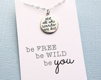 Summer Charm Necklace   Pendant Necklace   Summer Motto Necklace   Wanderlust   Layering Necklace   Friendship Gift   Sterling Silver   X12