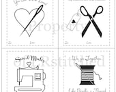 Printable Valentine's Cards for Sewing Friends