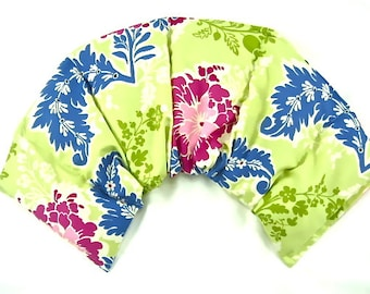 Stress Relief Neck Shoulder Wrap Reusable Organice Moist Heat Pad Microwave Pack Rice Flax Seed Arthritis Relief Floral Gift Idea