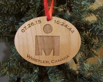Iron Man Christmas Ornament - Personalized Wooden Ornament