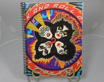 """Kiss """"Rock and Roll Over"""" Original Record Album Cover Notebook"""