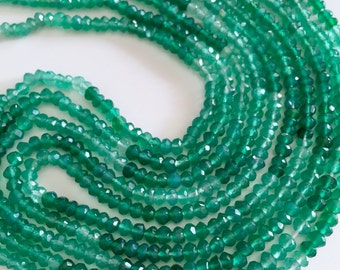 1/2 strand of shaded green onyx-  super quality