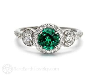 Rose gold ring rosenquarz ring fleur de lis ring 14 k oder 18k for Verlobungsring blauer stein