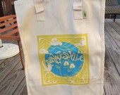 Charlottesville Grow Your Own Roots Tote - Blue