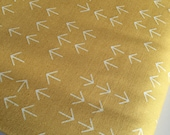 Arrow Fabric, Cotton Fabric by the Yard, Boho fabric, Mustard fabric, Modern fabric, Color Dash fabric, Arrows in Curry, Choose your cut