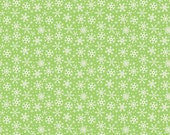 SALE Fabric, Christmas Fabric, Cotton Fabric, Snowflake Fabric, by Riley Blake, Santa Express Snowflake in Green. You Choose the Cut