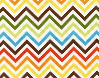 Sale Fabric, Remix Fabric, Cotton Fabric, Chevron fabric, Boy fabric, Chevron in Bermuda- Choose your cut, Free Shipping Available