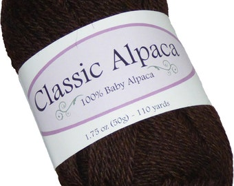 Classic Alpaca 100% Baby Alpaca Yarn #410 Oregon Timber Brown by The Alpaca Yarn Company - 110 yds per 50g