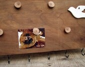 Peace Dove Organic Natural Message Board Key Holder Rack with Magnets by Tanja Sova
