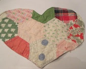 Upcycled Cutter Quilt Heart U finish it save on postage and Embellishing Fun