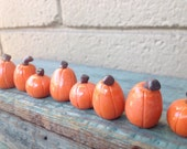 Handpainted mini clay pumpkins (sold in pairs)