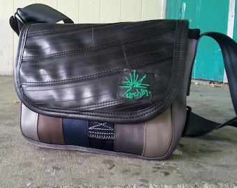 Recycled Bag - Bike Inner tube Bag - Used Seatbelts