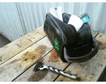 Men's Bike Tube Dopp Bag - Travel Bag - Dopp Kit - Toiletry Bag - Wash Bag